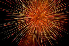 Beautiful and colorful fireworks and sparkles for celebrating new year or other event Stock Image