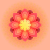 Beautiful colorful flower. Vector illustration. Big beautiful colorful flowers. Vector flower illustration Stock Photo