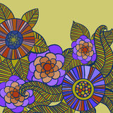 Beautiful colorful Flowers set. Vector Illustration. Beautiful Flowers set. Vector Illustration Stock Image
