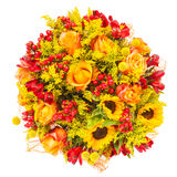 Beautiful colorful fresh flowers bouquet Stock Image