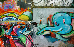 Beautiful, colorful graffiti art, Vietnam street Stock Image