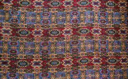 A beautiful and colorful handmade Persian rug royalty free stock image