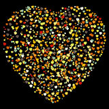 Beautiful colorful heart shape background. EPS 8 royalty free illustration
