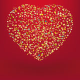 Beautiful colorful heart shape background. EPS 8 Stock Photos