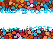 Beautiful colorful heart shape background. EPS 8 Stock Image