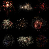 Beautiful colorful holiday fireworks Royalty Free Stock Photography
