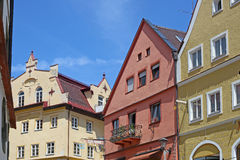 Beautiful colorful houses in Fussen Royalty Free Stock Photography