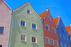Beautiful colorful houses in Fussen Royalty Free Stock Photo