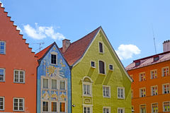Beautiful colorful houses in Fussen Royalty Free Stock Photos