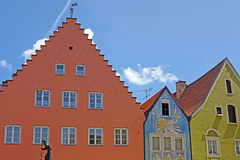 Beautiful colorful houses in Fussen Royalty Free Stock Image