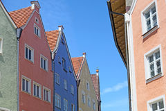 Beautiful colorful houses in Fussen Stock Photos