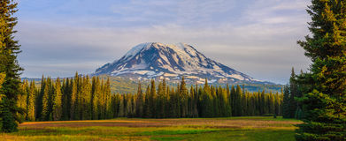 Beautiful Colorful Image of Mount Adams. Amazing Vista of Mt. Adams in Washington State royalty free stock photography