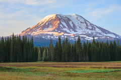 Beautiful Colorful Image of Mount Adams. Amazing Vista of Mt. Adams in Washington State royalty free stock image
