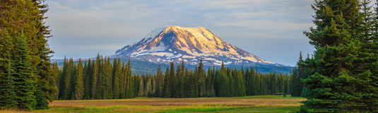 Beautiful Colorful Image of Mount Adams Stock Photo