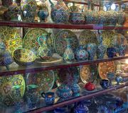 Beautiful and colorful Iranian handcrafted, They call it enamel, They are designed very carefully by Iranian artists royalty free stock images