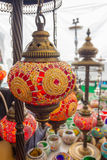 Beautiful colorful lamps arabic style of decorating Royalty Free Stock Photography