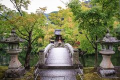 The beautiful and colorful landscaped gardens of kyoto, kyoto, Kansai region, Japan stock photography