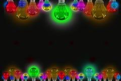 Beautiful Colorful light Blubs background Stock Photo