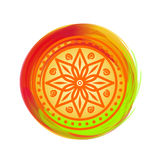 Beautiful colorful mandala. Design element for festival of colors - Holi Royalty Free Stock Photo