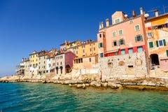 The old town of Rovinj Istria. Beautiful colorful medieval town of Rovinj Istria, Istrian peninsula, Croatia, Europe stock image