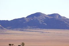 Beautiful and colorful mountains of Namibia royalty free stock photo