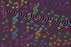 Beautiful colorful Music notes background Royalty Free Stock Photo