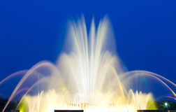 Beautiful Colorful Musical Fountain. In Ilsan, South Korea Stock Photos