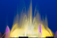 Beautiful Colorful Musical Fountain. In Ilsan, South Korea Stock Images