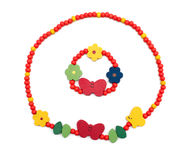 Beautiful colorful necklace Royalty Free Stock Photo