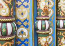 Beautiful colorful ornaments(detail of design of the building) Stock Photo