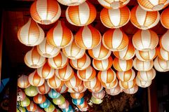 beautiful and colorful paper lamp royalty free stock images