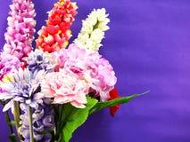 Beautiful colorful plastic artificial  flower bouquet Stock Image