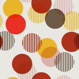 Colorful polka dots mixed with stripe seamless pattern stock illustration