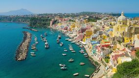 Beautiful colorful Procida island, Italy stock video