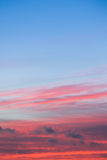 Beautiful Colorful red and blue sunset sky Royalty Free Stock Photography
