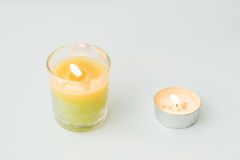 Beautiful colorful scented candles Royalty Free Stock Photo