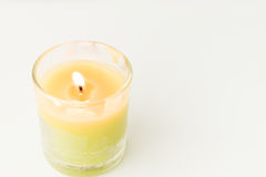 Beautiful colorful scented candles Stock Photography