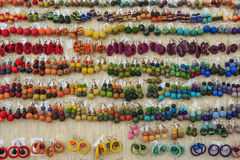 Beautiful colorful set of earrings Royalty Free Stock Image