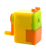 Beautiful colorful sharpener machine pencli sharp Royalty Free Stock Photography