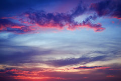 Beautiful colorful sky. Royalty Free Stock Photo