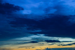 Beautiful colorful sky and cloud in twilight time background Stock Photos