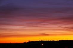 Beautiful colorful sky during sunset Stock Photos