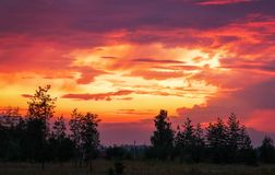 Beautiful colorful sky during sunset or sunrise Stock Photo