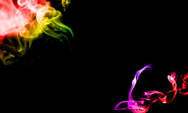Beautiful Colorful Smoke effect on black background Stock Photo