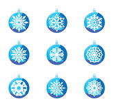 Beautiful colorful snowflake decoration set Stock Photos
