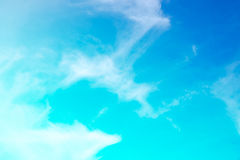Beautiful colorful soft focus of cloud and sky. In pastel vintage and retro style for backdrop background desktop wallpaper use Stock Photos