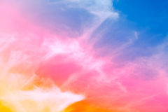 Beautiful colorful soft focus of cloud and sky. In pastel vintage and retro style for backdrop background desktop wallpaper use Stock Images