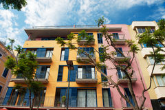 Beautiful colorful Spanish apartments Stock Photo