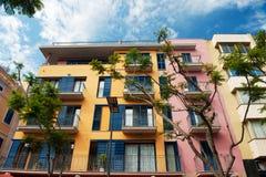 Beautiful colorful Spanish apartments Stock Photo