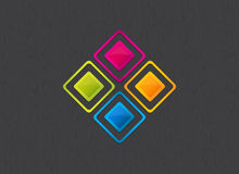 Beautiful colorful square background Stock Photos